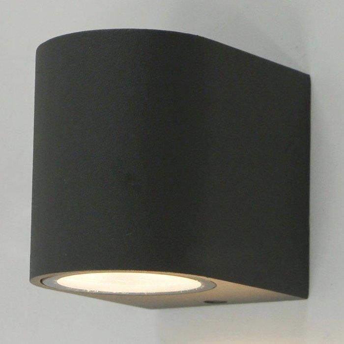 Уличный настенный светильник из металла серого цвета