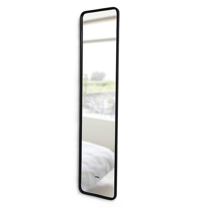 Настенное зеркало Hub в черной раме