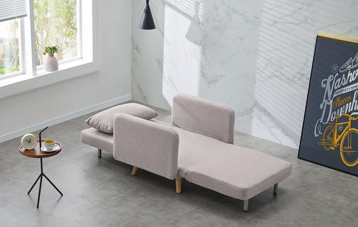 Кресло-кровать Cardiff серо-бежевого цвета