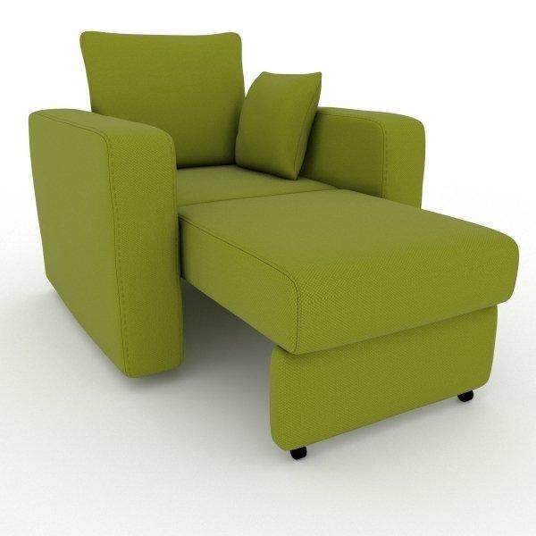 Кресло-кровать Liverpool зеленого цвета