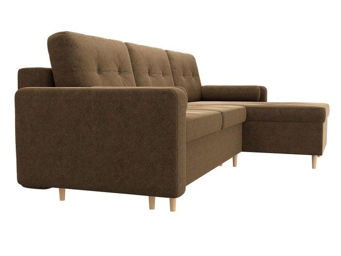 Угловой диван-кровать Белфаст коричневого цвета
