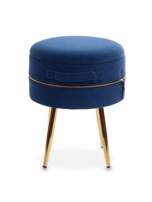 Набор из двух пуфиков Stockholm small+big бирюзового и темно-синего цвета