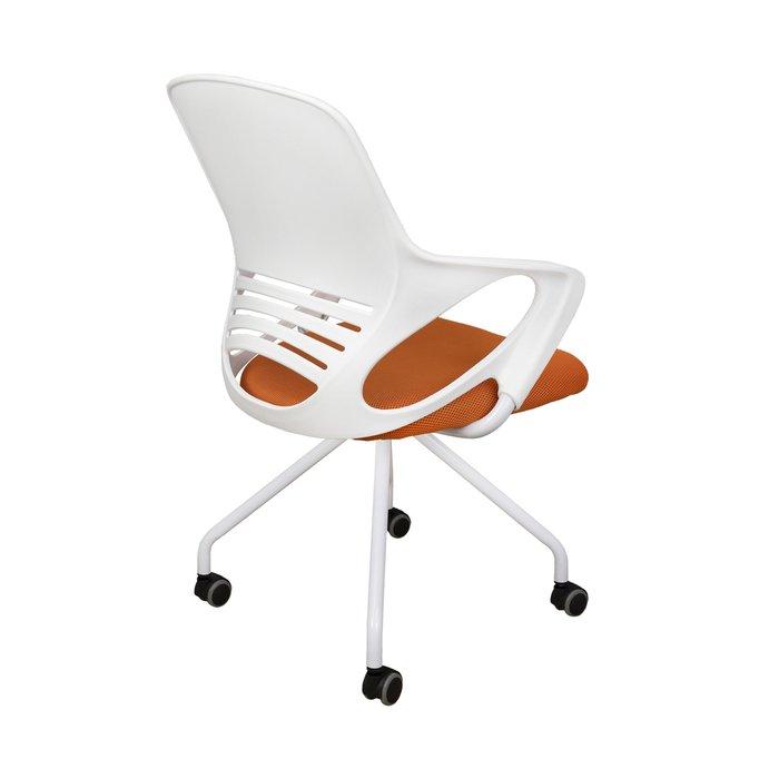 Кресло поворотное Indigo бело-оранжевого цвета