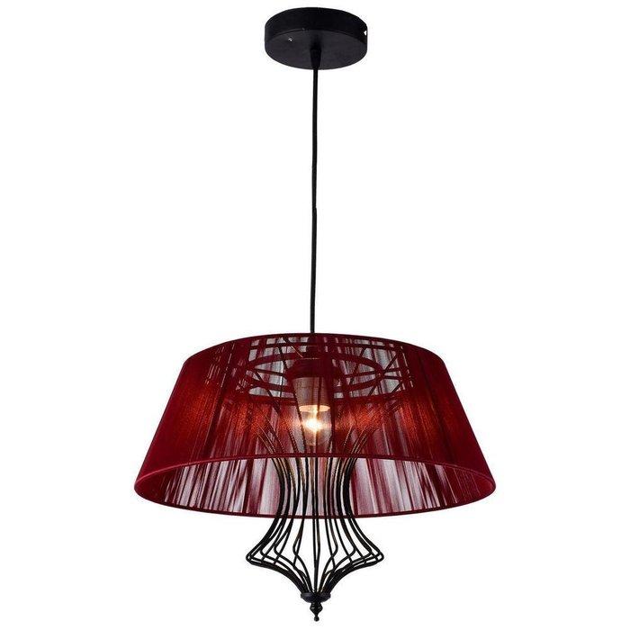 Подвесной светильник Cameron с красным абажуром
