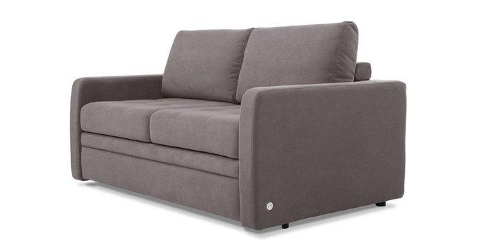 Прямой диван-кровать Бруно серо-коричневого цвета