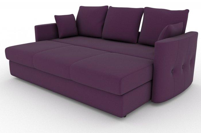 Прямой диван-кровать Луна фиолетового цвета