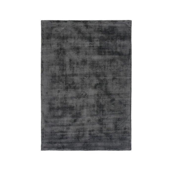 Ковер Izri с эффектом старины из вискозы цвета антрацит 160x230