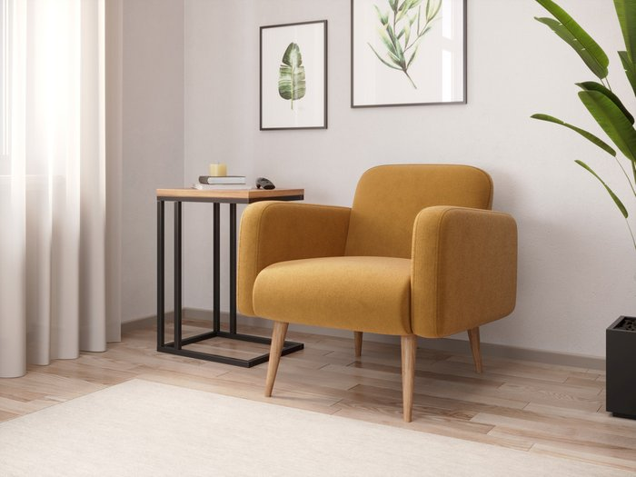 Кресло Уилбер желтого цвета