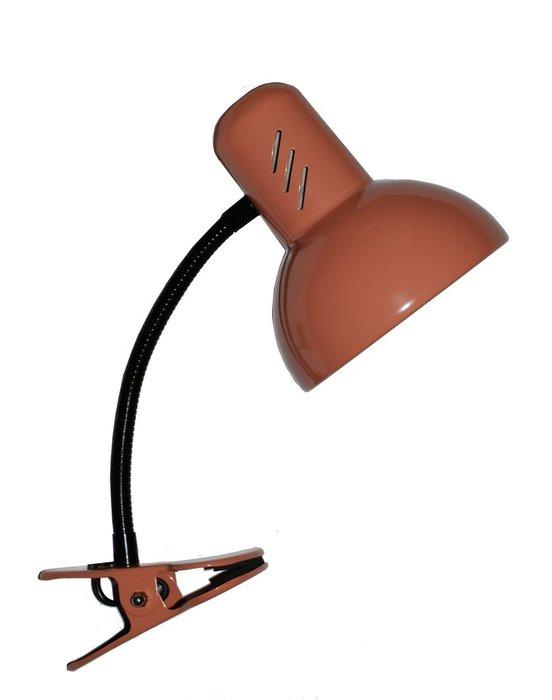 Настольная лампа Эир коричневого цвета