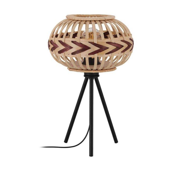 Настольная лампа Dondarrion из дерева
