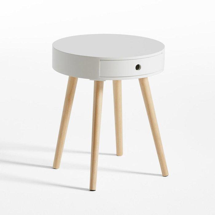 Прикроватный столик Selisa круглой формы