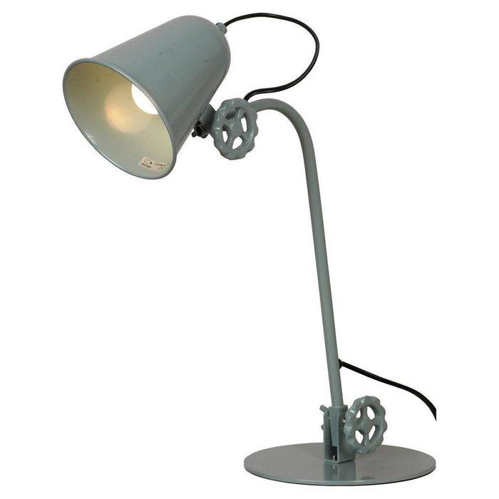 Настольная лампа из металла серого цвета