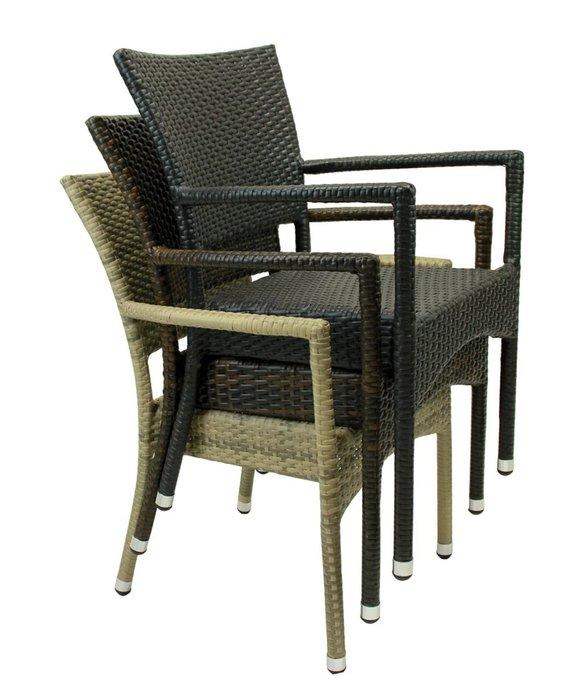 Кресло садовое Rum цвета мокко