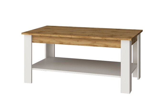 Журнальный стол Taurus бело-коричневого цвета