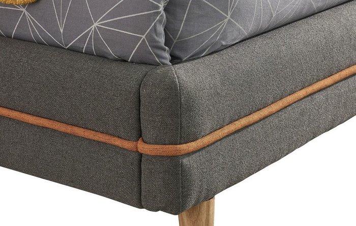 Кровать Madeira 160x200 серо-коричневого цвета