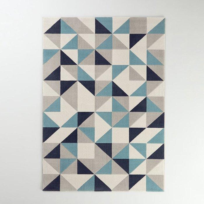 Ковер Elga с геометрическим рисунком cине-серого цвета 120x170