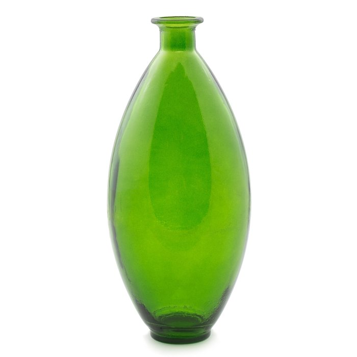 Ваза Small Lengthered Green зеленого цвета