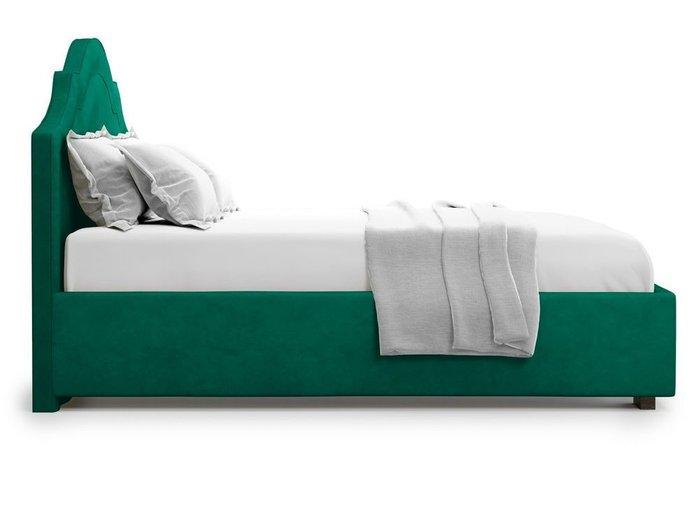 Кровать с подъемным механизмом Madzore 140х200 зеленого цвета