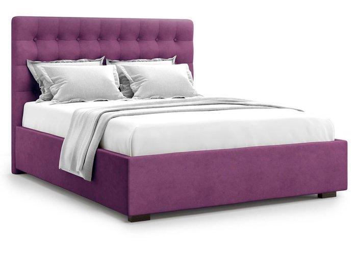 Кровать с подъемным механизмом Brayers 160х200 фиолетового цвета