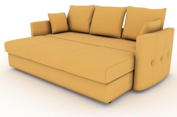 Прямой диван-кровать Луна желтого цвета