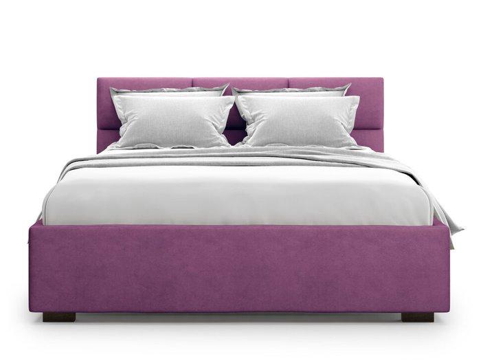 Кровать Bolsena 140х200 пурпурного цвета с подъемным механизмом