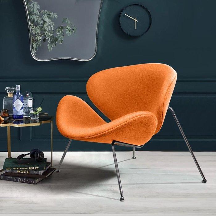 Лаунж кресло Slice оранжевого цвета
