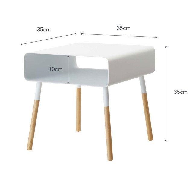 Журнальный столик Plain белого цвета