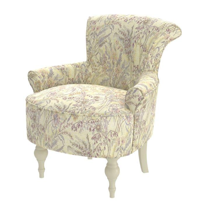 Кресло Azalea серо-бежевого цвета