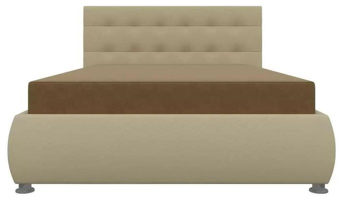 Кровать Рио 126х190 с подъемным механизмом бежевого цвета (ткань/экокожа)