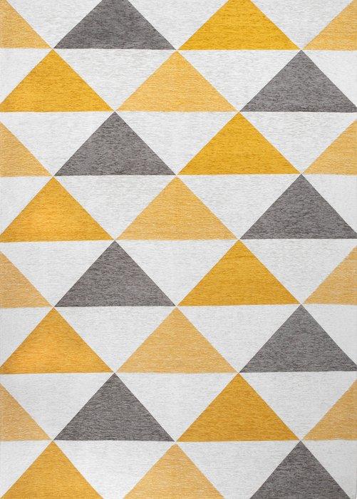 Ковер Line Otto серо-желтого цвета 135х200