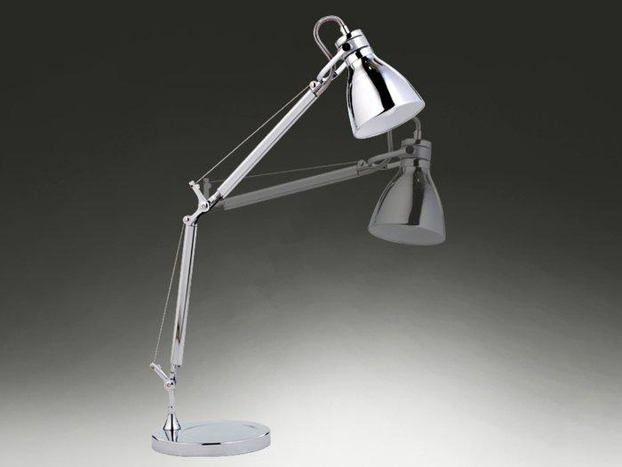 """Настольная лампа Schuller """"ERGO"""" из хромированного металла"""