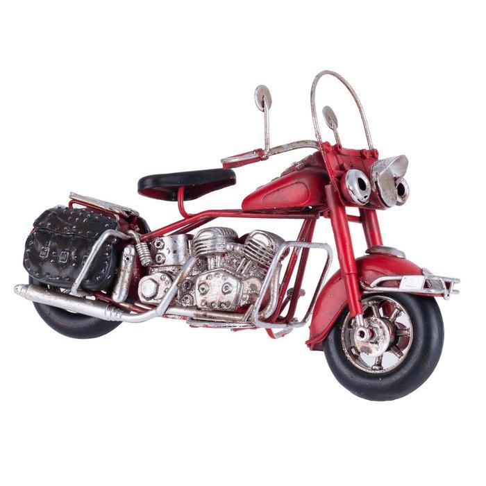 декоративный мотоцикл красный