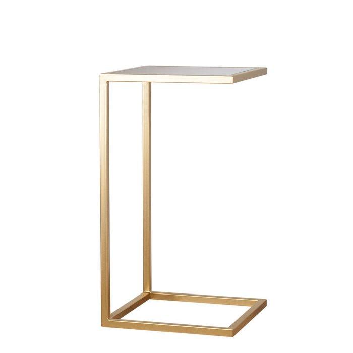Приставной столик со столешницей из бронзового стекла