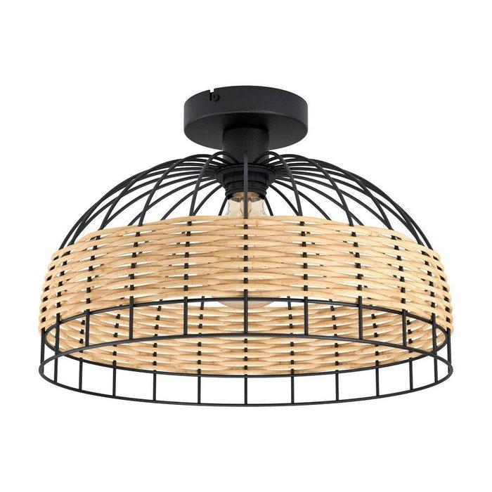 Потолочный светильник Anwick со вставками из ротанга