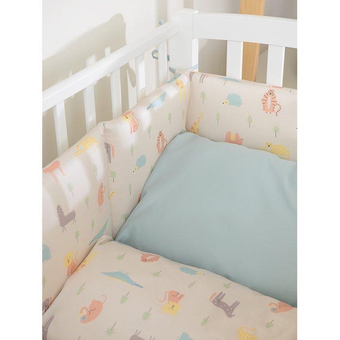 Комплект постельного белья с принтом animalia world из сатина 110х140