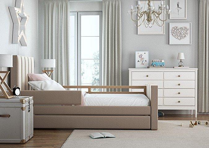 Кровать Cosy спальное место 90х200 бежевого цвета