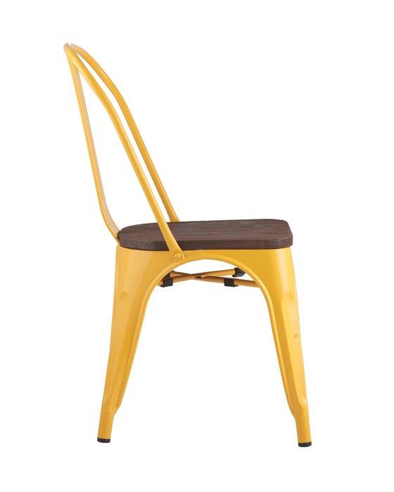 Стул Tolix Wood желтого цвета