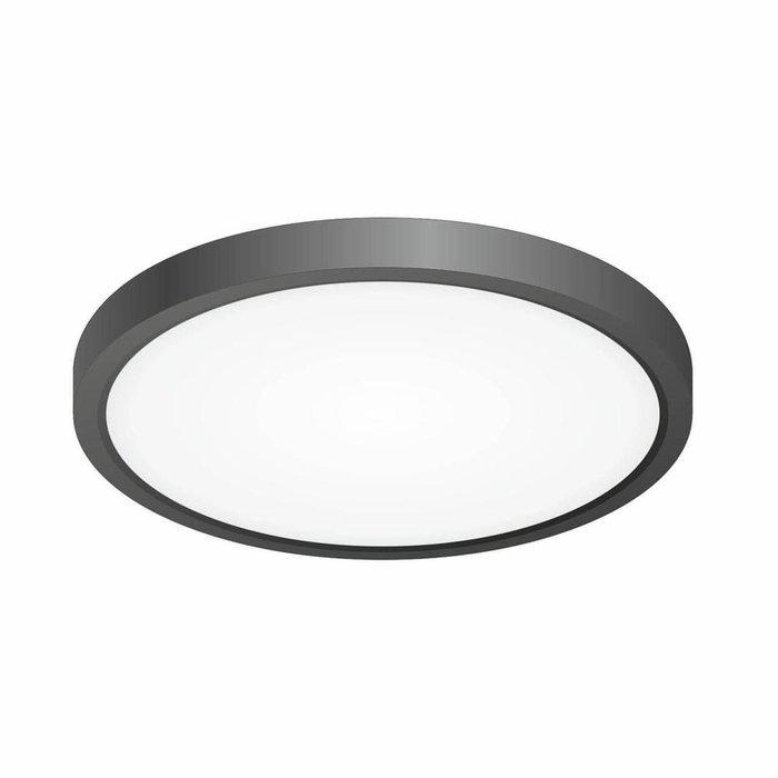 Светодиодный накладной светильник Бейсик с черным основанием