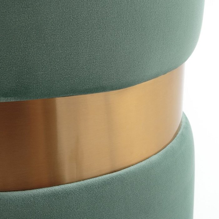 Пуф велюровый Luxore серо-бирюзового цвета