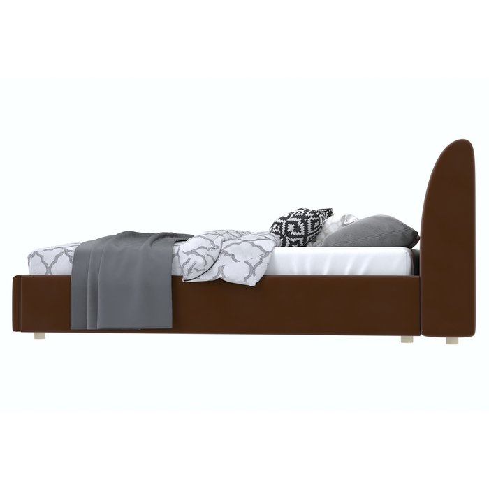 Кровать Бекка 120x200 темно-коричневого цвета