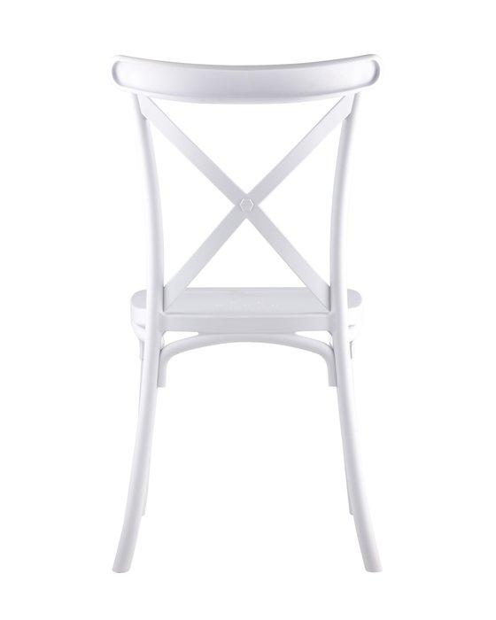 Стул пластиковый Кроссбэк белого цвета
