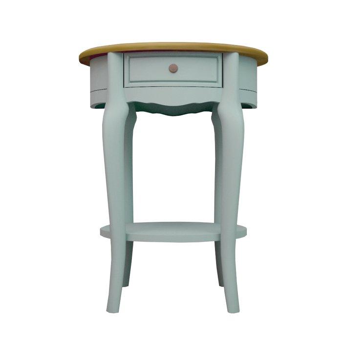 Овальный кофейный столик Leontina голубой