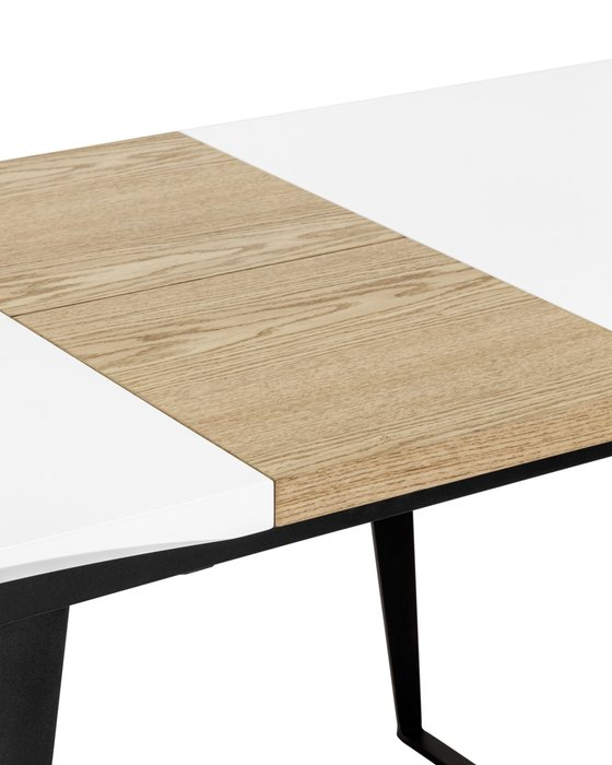 Раскладной обеденный стол Йорк с белой столешницей