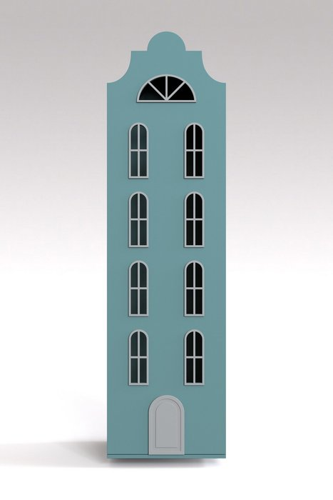 Шкаф-домик Стокгольм Maxi ментолового цвета