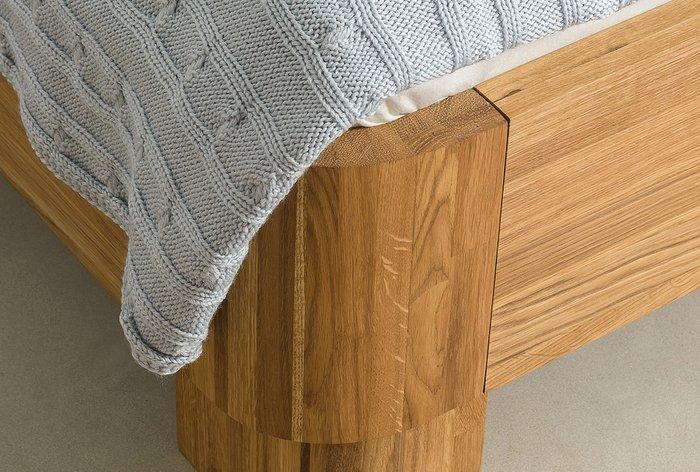 Кровать Норд 90х200 светло-коричневого цвета