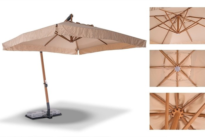 Зонт Корсика с алюминиевым основанием