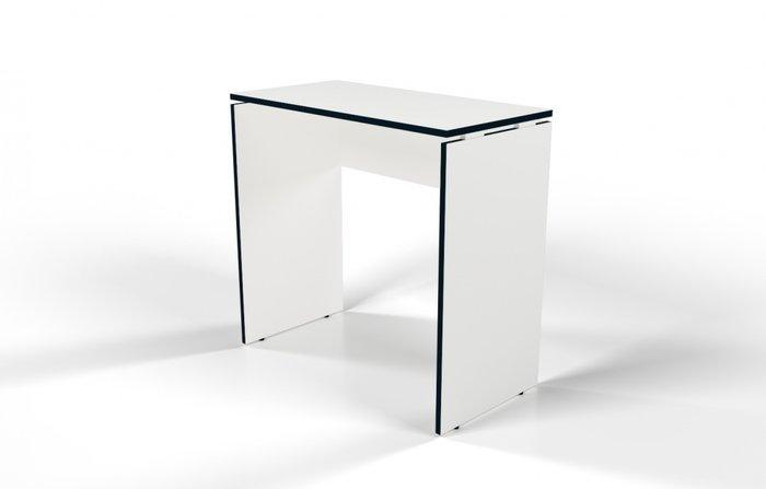Стол барный белого цвета с черной кромкой