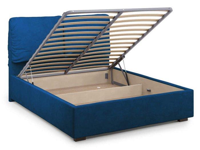 Кровать Trazimeno с подъемным механизмом 180х200 синего цвета
