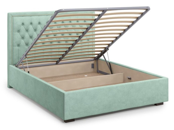Кровать с подъемным механизмом Orto 160х200 мятного цвета