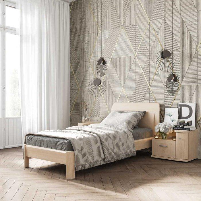 Кровать Магна 90х200 бежевого цвета